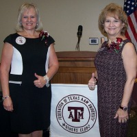 Photo of Federation President Linda Schmidt and President-Elect Troie Burch