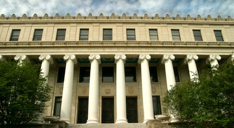 Photo of Administration Building Columns