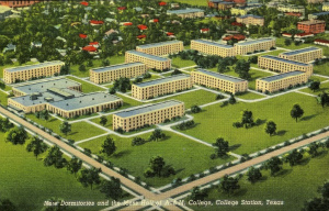 Vintage Post Card - Dorms and Duncan Dining Hall
