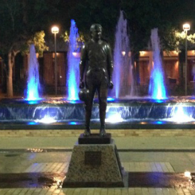 Photo or Rudder Fountain and 12th Man Statue