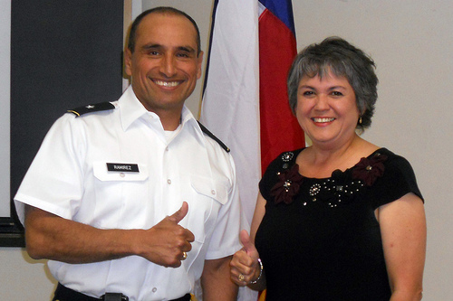 Photo of Melinda and General Ramirez