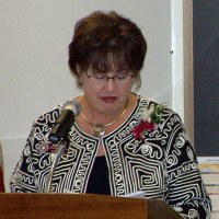 Photo of Kathy Steffen Installing Officers
