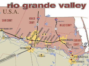 Map Of Rio Grande Valley Texas