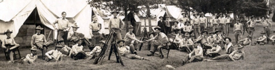 Photo of Early Cadets living in Tent City